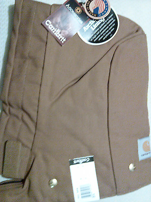 Carhardtt Snap-On Hood Arctic-Lined Brown Ao2 Nwt    Made In U.s.a.