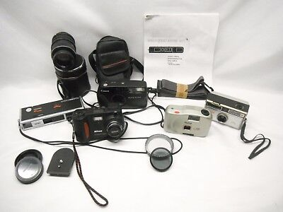Vintage Camera Lot Nikon Coolpix 800 Polaroid Minolta Pocket Canon, Lens