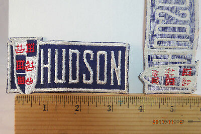 """Vintage Hudson Automobile Car Embroidered Sew-on Patch, 4""""x2""""  NOS"""