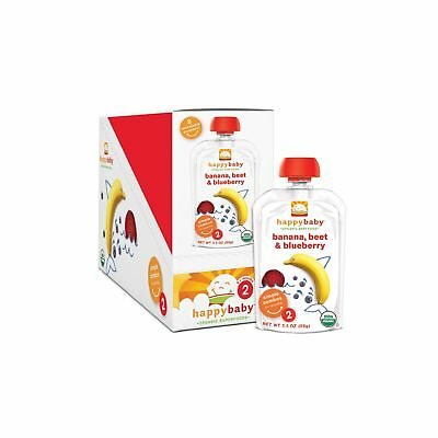 Happy Baby Organic Stage 2 Baby Food Simple Combos Bananas Beets & Blueberrie...