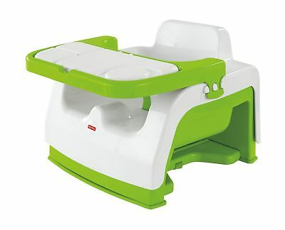 Fisher-Price Grow-with-Me Portable Booster Seat Green/White