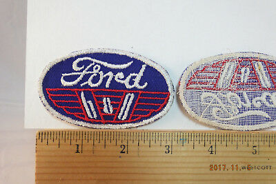 "Vintage  Ford 6 & 8  Service Embroidered Sew-on Patch 3.5""x2"""" NOS"