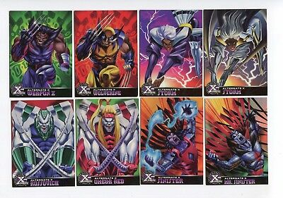 1995 Fleer Ultra X-Men Chromium Alternate X Lot 16 cards