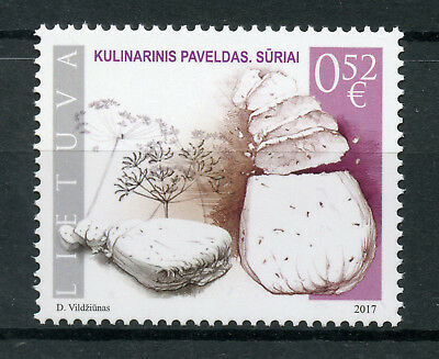Lithuania 2017 MNH Culinary Heritage Cheeses Cheese 1v Set Gastronomy Stamps
