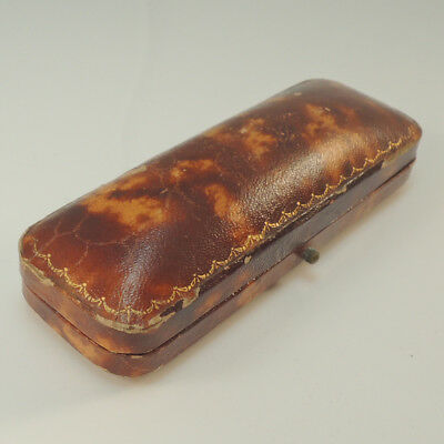 Antique Vintage Brooch Box Jewellery - Jewelry Display Presentation Brown Case