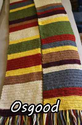 Handmade Crocheted 7 foot long Doctor Who Day of the Doctor Osgood scarf