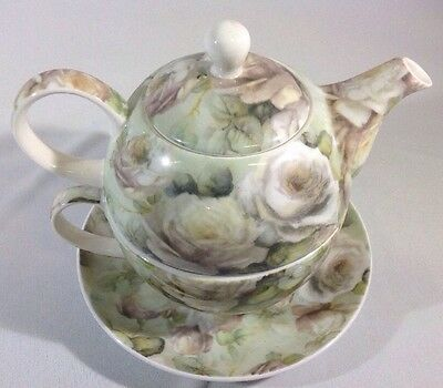 Maxwell & Williams Royal Old England Tea for One, Fine Bone China, Misty Rose
