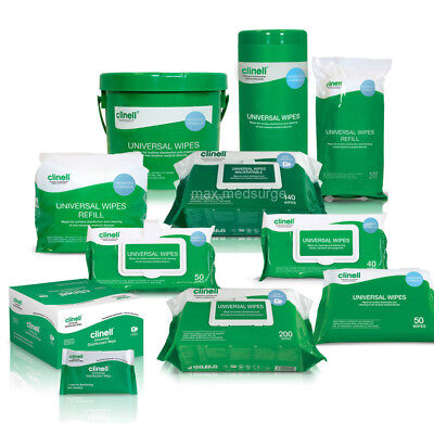 Clinell Universal Wipes Range, Hand & Surface Sanitising, Disinfectant Sanitiser