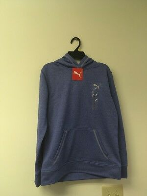 NWT BOY'S SIZE Large ROYAL HEATHER PULLOVER HOODIE PUMA .