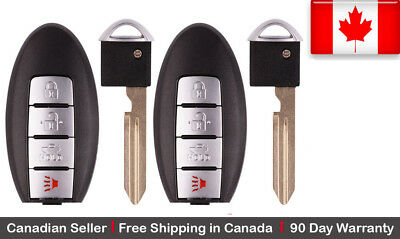2x New Replacement Keyless Entry Remote Control Key Fob For Nissan & Infiniti