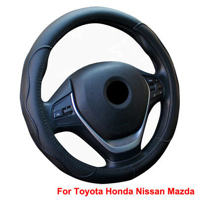 """For Toyota Honda For Nissan Mazda Steering Wheel Cover PU Leather 15""""/37-38CM"""