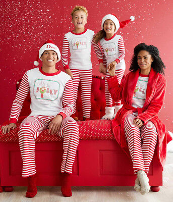 US Stock Family Match Christmas Adult Women Kids Sleepwear Nightwear Pajamas Set