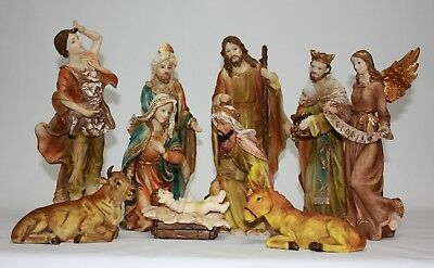 Christmas Nativity Scene Set For Christmas Decoration 11 Pieces 30.5cm