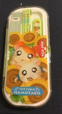 Hamtaro Childs Utensils Chopsticks Tottoko Hamutaro