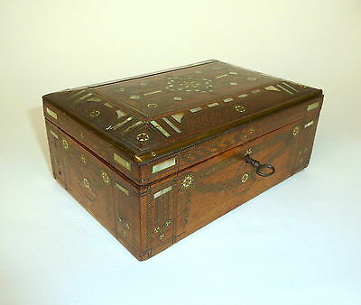 Casket Around 1860 MOTHER OF PEARL INLAID