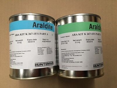 Box of Araldite K267--1F Epoxy Filler/Adhesive/ Concrete Repair - 8 x 1Kg Kits