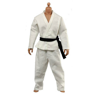 """1/6 Scale Judo Gi White Uniform Kung Fu Suit For 12"""" Hot Toys Male Figure"""