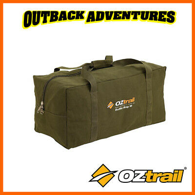 Oztrail Canvas Duffle Bag Large Heavy Duty Green