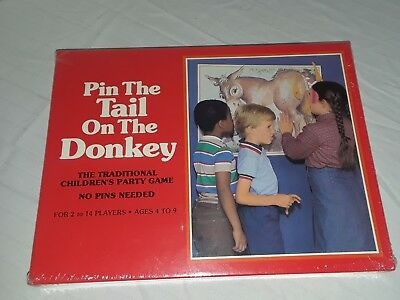 Vintage NIB Pin The Tail On The Donkey Game 1981