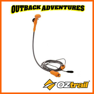 Oztrail 12V High Flow Portable Camp Shower 4L/min Pump Long Hose Hiking