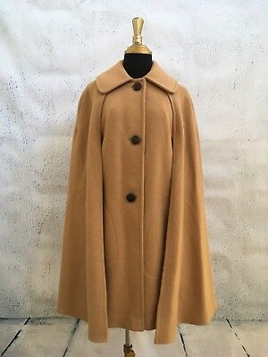 Vintage Women's Wool Cape Coat One Size Camel