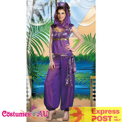 Ladies Arabian Princess Costume Genie Aladdin Purple Dance Party Fancy Dress  sc 1 st  PicClick UK & LADIES ARABIAN PRINCESS Costume Genie Aladdin Purple Dance Party ...