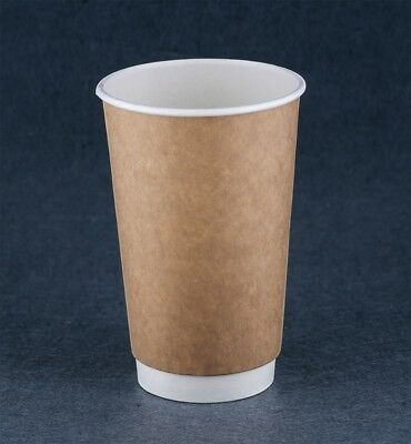 Disposable 500pcs Double wall  16oz Take Away Coffee Cups