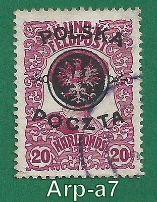 (PL-4) Poland stamps Used 1918 First Lublin Issue