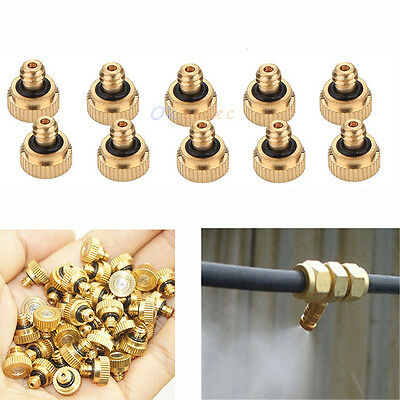 GREENHOUSE BRASS MISTING Sprayer Nozzles Garden Cooling System 0 3 mm 10/24  UNC