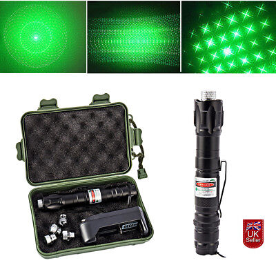 Super Green Laser Pointer Pen Clip Visible Beam Mark 5 Mile Power 1mw +Charger
