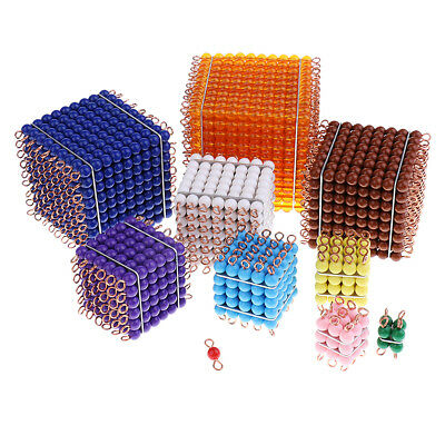 Montessori 1-10 Bead Bar Cube for Kindergarten Early Learning Education Toys