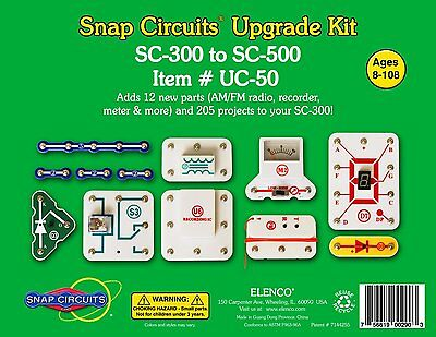 Elenco Snap Circuits UC-50 Upgrade Kit Converts SC-300 to SC-500 Ages 8+ Special