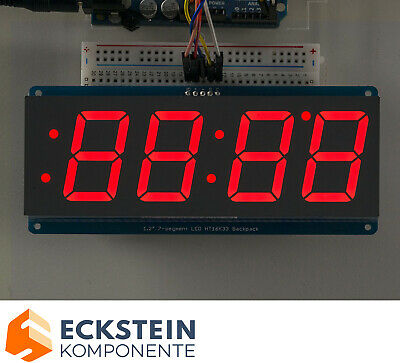 "Adafruit 1.2"" 4-Digit 7-Segment Display w I2C Backpack - Red AF1270"