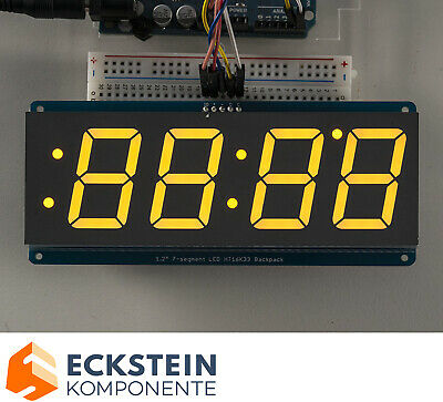 "Adafruit 1.2"" 4-Digit 7-Segment Display w I2C Backpack - Yellow AF1269"