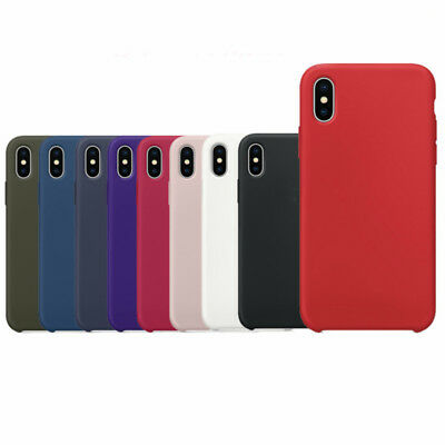 Ultra Thin Original Silicone Shockproof Soft Back Case Cover For Apple iPhone X