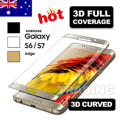 For Samsung Galaxy S6 S7 Edge Screen Protector Full Coverage 9H Tempered Glass