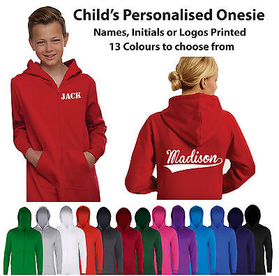 Custom Printed Personalised Child's Jumpsuit All in One Kids One piece sie