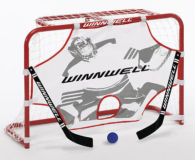 WINNWELL Mini Player Set Hockeytor Streethockey Tor Strassenhockey Tor Accushot
