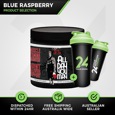 Rich Piana 5% Nutrition All Day You May | 30 Serve Blue Ras | BCAA | Free Gift!