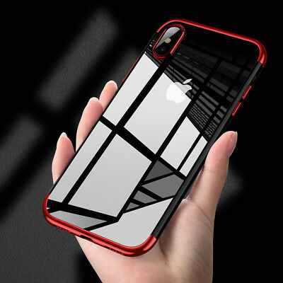 For Apple iPhone X Case Slim Clear TPU Soft Bumper Shockproof Thin Back Cover
