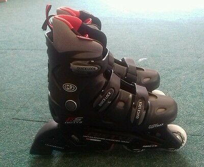 BRAND New California Pro Misty II black red grey inline roller skates UK size 9