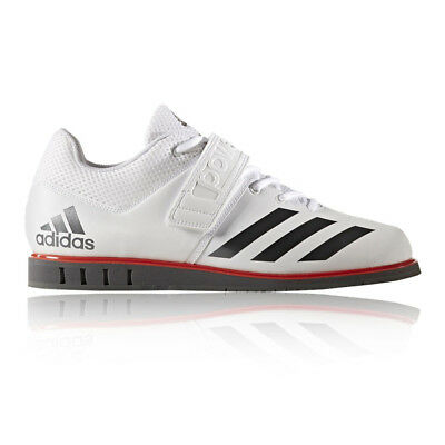 Adidas Powerlift 3.1 Mens White Weightlifting Sports Shoes Trainers Pumps