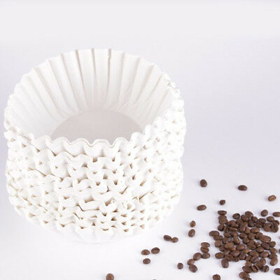 500 Sheets 25cm Commercial Coffee Maker Filters Paper Basket Dripper 12 Cup