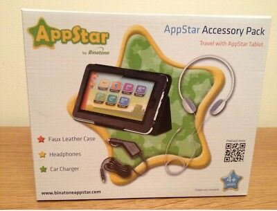 """Appstar 7"""" Tablet Accessory Pack Case, Car Charger, Headphones BNIB!!"""