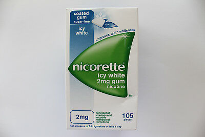 Nicorette Icy White 2mg Medicated Chewing Gum - 105 Pieces