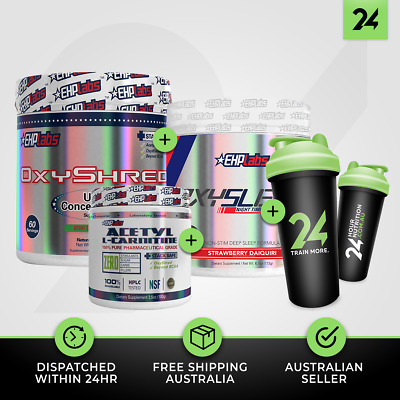 1 X OXYSHRED by EHP Labs+ OXYSLEEP + ALCAR | Huge Weight Loss Pack | Free GIFT!