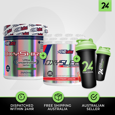 1 X OXYSHRED + OXYSLEEP by EHP LABS | Fat Burning Weight Loss Pack | Free GIFT!
