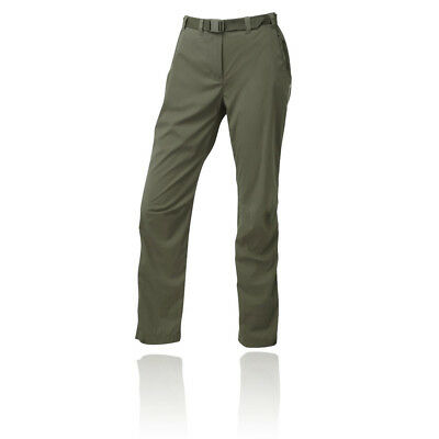 Montane Terra Pack Womens Green Water Resistant Outdoor Long Pants Bottoms
