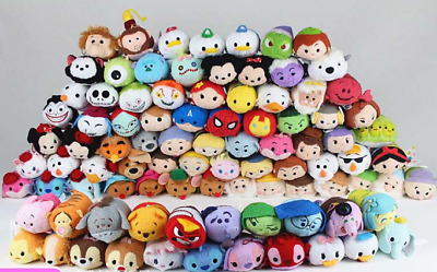 140 Styles Disney TSUM TSUM Mickey Rapunzel Snow White Pua Plush Toys With Chain