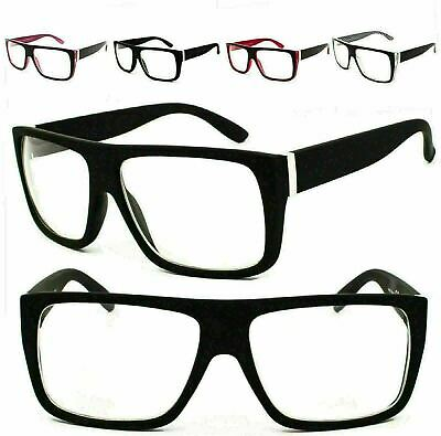 Classic Clear Lens Square Glasses Geek-Chic Nerd Eyeglasses Frame